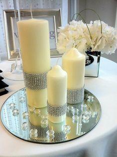 Decorar velas en pinterest manualidades de tarros for Velas para decorar mesas