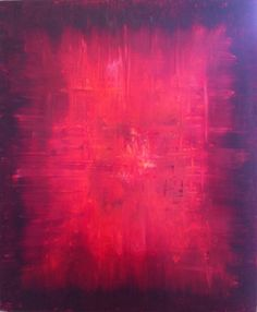Red abstract art Simple Abstract Painting by OriginalArtbyJen