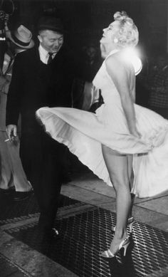 Marilyn Monroe and Billy Wilder filming The Seven Year Itch