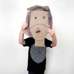 Technology idea - kids make oversized masks, film and edit footage