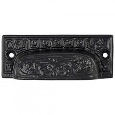 Old fashioned CAST IRON BIN PULL victorian vintage replica hardware for restoration