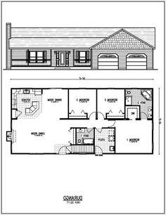 1970 S Ranch House Floor Plans