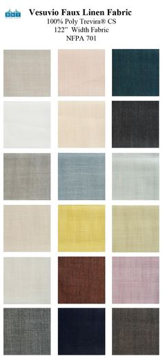 Vesuvio FR NFPA 701 Fire/Flame Retardant Faux Linen wide width fabric for seamless design for extra wide custom draperies, roman shades and top window treatments : contact us for a quote for residential/commercial/interior designer/architect/school/hospitality : Sewn in the USA!