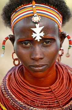 Africa | Portrait of a Samburu woman, Kenya | © Art Wolfe