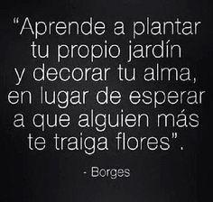 Frase de Jorge Luis Borges sobre autoestima | Mejores Mensajes