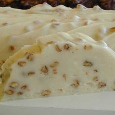 My grandmother used to make this all the time when I was little. It always reminds me of her when I see it in the fudge store windows.. So easy to make too. The picture I found on another site.