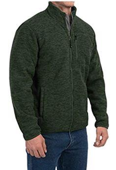 New 32 Degrees Men's Heat Fleece Sherpa Lined Full Zip Jacket Medium M Green