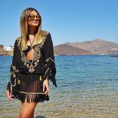 Todays outfit! ☀️ #ootd #sundaystyle ##ThassiaEuroSummer #ThassiaEmMykonos #BTviaja {A saída de praia ganhei do namo aqui mesmo de uma lojinha mara no centro!}