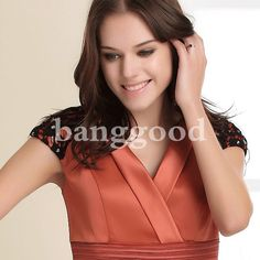 Collar de cuello en V está especialmente diseñado para este vestido para hacerte dulce y encantador más