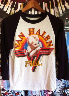 Vintage 1984 Van Halen Tour Shirt Jersey Rare by ElliottBayVintage
