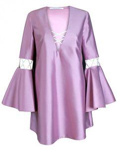 PLAKINGER Kleid aus Seide mit Schnürung
