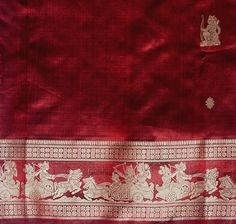 Red Baluchari Saree