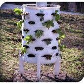 DIY Vertical Garden Planter from a 55 Gallon Plastic Barrel