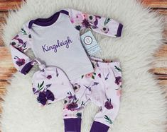 Newborn girl coming home outfit – Etsy