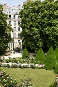 The Beautiful Garden at Musée Rodin, Paris (Baby Liam got in trouble here for walking on the grass!)