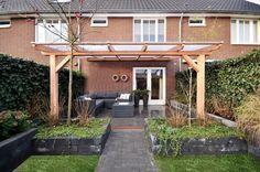 houten pergola met glazen dak - Google zoeken