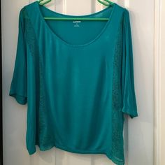 Express top Cute Top with lace on the sides. Express Tops Tees - Short Sleeve