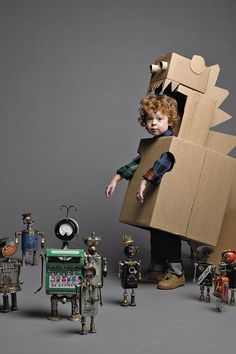 robot costume - this is so what my son is going to look like
