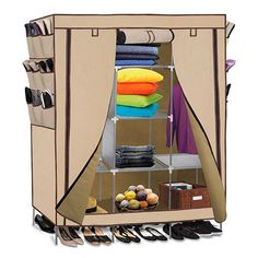 Oxgord Portable Wardrobe Closet Storage Organizer
