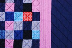 Amish kinder crib quilt with Mirror Ball Dot fabrics- great contrast!