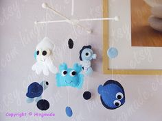 Baby Crib Mobile Nursery Mobile Ceiling Hanging Mobile by hingmade