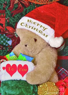 Merry Christmas Bear Greeting Card for Sale by Regina Geoghan