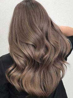 Ash Brown Hair Color, Light Brown Hair, Light Hair, Cool Hair Color, Light Blonde, Unique Hair Color, Trendy Hair Colors, Toffee Hair Color, Hair Color Asian