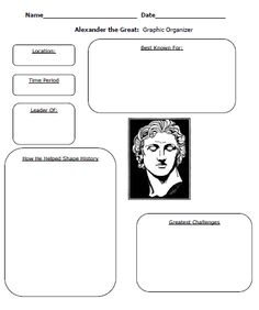 Julius Caesar, Cleopatra, and Alexander the Great Worksheet and Lesson Plan Set