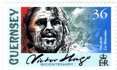 Literary Stamps: Hugo, Victor (1802- 1885)