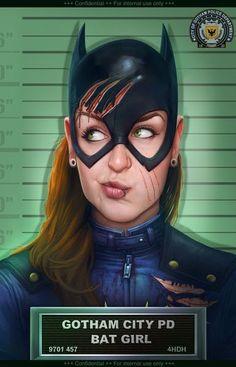Galaxy Fantasy: Fan art de Batgirl detenida después de una pelea