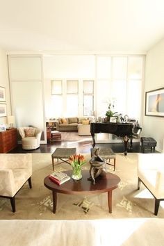 Space Planning Secrets: 5 Ways to Love Your Living Room Layout / Apartment Therapy Furniture Placement, Furniture Layout, Furniture Arrangement, Cheap Furniture, Office Furniture, Living Room Furniture, Furniture Ideas, Outdoor Furniture, Living Rooms