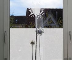 Customizable Flower Privacy Film for Windows by MUSTERLADEN