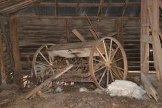 Manual Seeder Spreader Thomas Mfg Co Springfield Ohio Agricultural Implement Wagon Wheels Candler County GA Photograph Copyright Brian Brown...