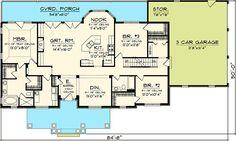 3 Bedroom Rambling Ranch - 89821AH | Craftsman, Northwest, Ranch, 1st Floor Master Suite, Bonus Room, Butler Walk-in Pantry, CAD Available, PDF, Split Bedrooms, Corner Lot | Architectural Designs