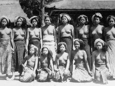 A group of Balinese girl - Bali - Series of Balinese Woman.