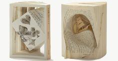 日本藝術家 Tomoko Takeda利用圖書雕製。Skilled Artist Carves Popular Literary Works Into Sculptural Masterpieces