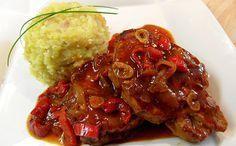 Pork chops on beer No Salt Recipes, Pork Recipes, New Recipes, Cooking Recipes, Pork Meat, Beef, Kale Crisps, Czech Recipes, Healthy Diet Recipes