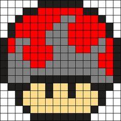 Bloody Mushroom Perler Bead Pattern / Bead Sprite