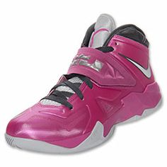 Men\u0026#39;s Nike LeBron Zoom Soldier VII Basketball Shoes | FinishLine.com | Pink Fire/