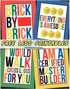 Free Lego Printables | Also great ideas for organizing Legos!