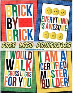 Free Lego Printables | Also great ideas for organizing Legos!