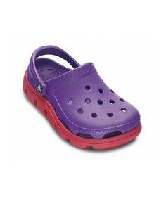 b4b37b7f7dc181 Crocs Ultraviolet   Raspberry Duet Sport Clog - Kids