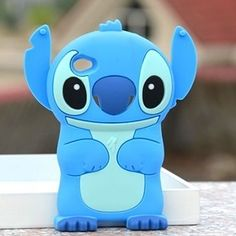 Blue 3D Cuites Stereoscopic Cartoon iPod 4 Cases Cover for iPod Touch 4