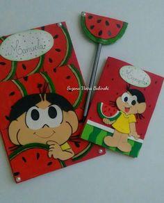 Kit decorado tema Magali (capa caderneta vacina e certidão nascimento)