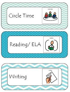 cute free class schedule labels. they also have picture symbols for non-readers!