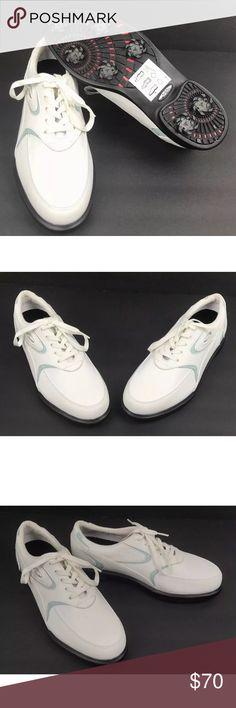 low priced 88c7c f3303 Oakley Mens White Light Blue Leather Golf Shoes Oakley Size 7.5 US Mens  White Light Blue