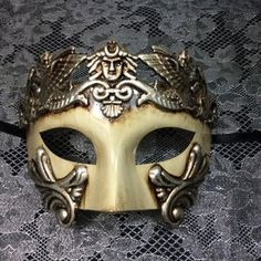 Mens Masquerade Mask, Three Face Mask, from 4everstore on Etsy