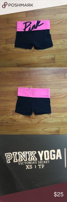 ️♀️ Pink Victoria's Secret Yoga Shorts Like new shorts! PINK Victoria's Secret Shorts