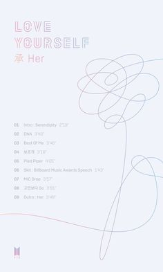 "On September 13, BTS shared the track list of their new mini album ""Love Yourself 承 'Her'""."
