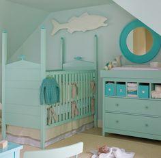 aqua nursery room